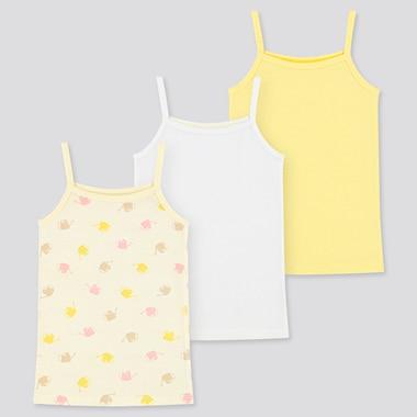Toddler Cotton Mesh Camisole (Set Of 3) (Online Exclusive), Cream, Medium