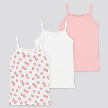 Toddler Cotton Mesh Camisole (Set Of 3) (Online Exclusive), Pink, Medium