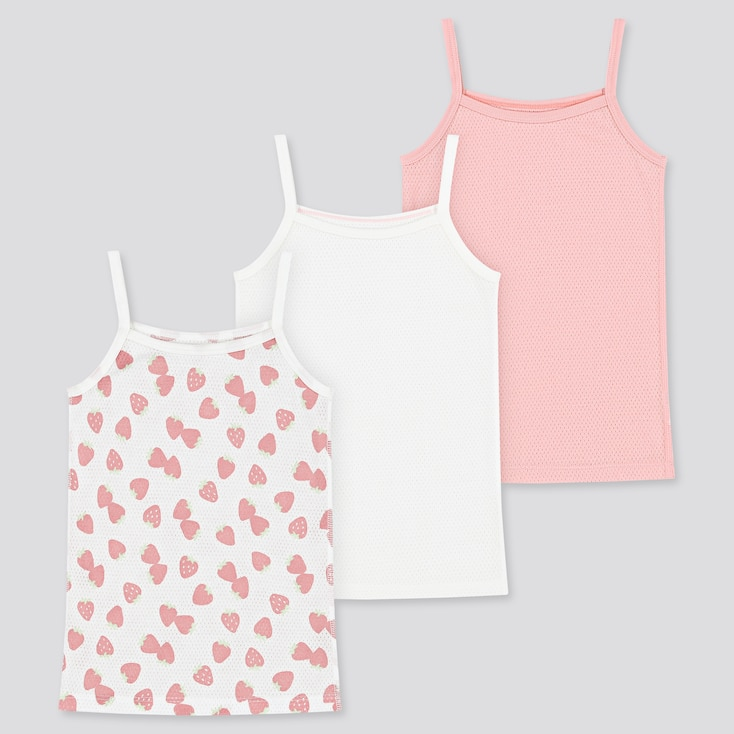 Toddler Cotton Mesh Camisole (Set Of 3) (Online Exclusive), Pink, Large