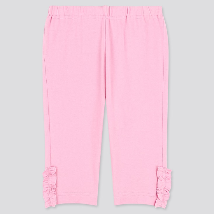 Baby Cropped Leggings, Pink, Large