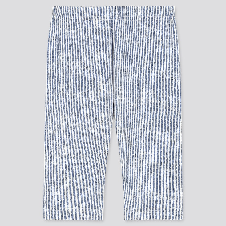 Baby Cropped Leggings, Blue, Large