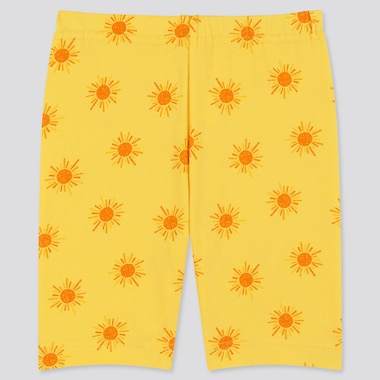 Baby Dry Half Leggings, Yellow, Medium
