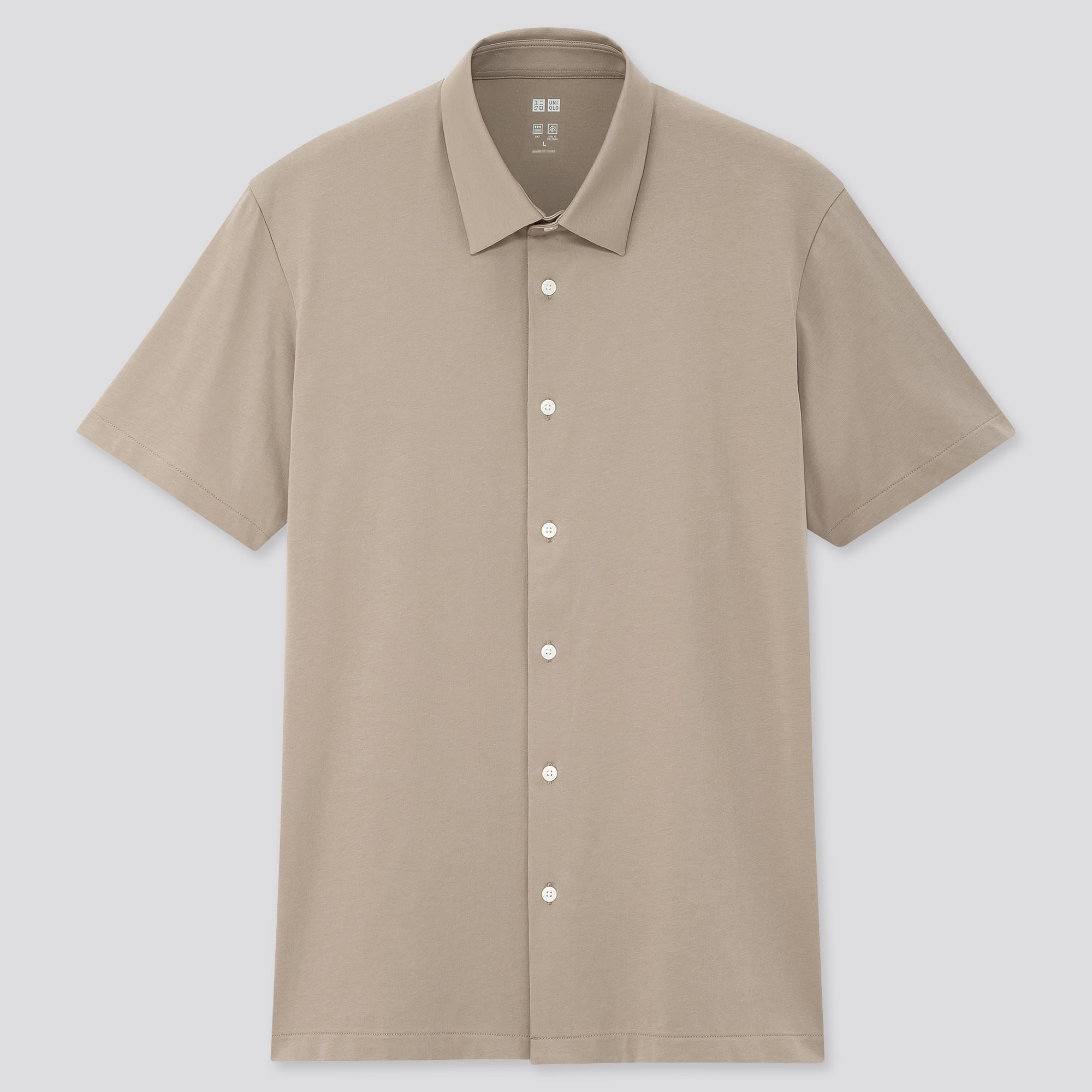 Uniqlo men airism jersey short-sleeve polo shirt