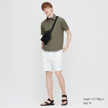 Men AIRism Jersey Fly Front Polo Shirt