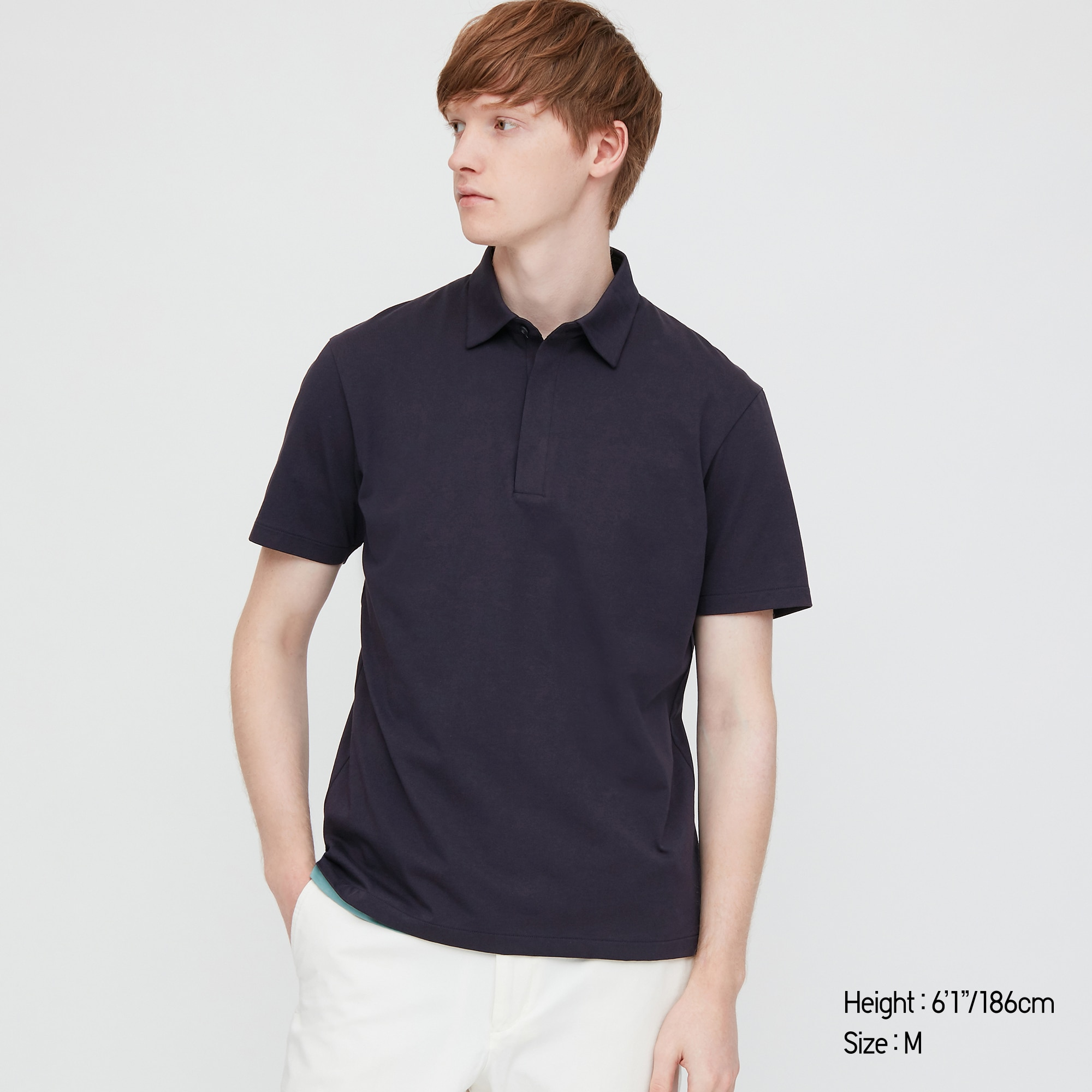 MEN AIRism JERSEY SHORT-SLEEVE POLO SHIRT
