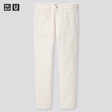 Men U Slim-Fit Straight Jeans, Off White, Medium