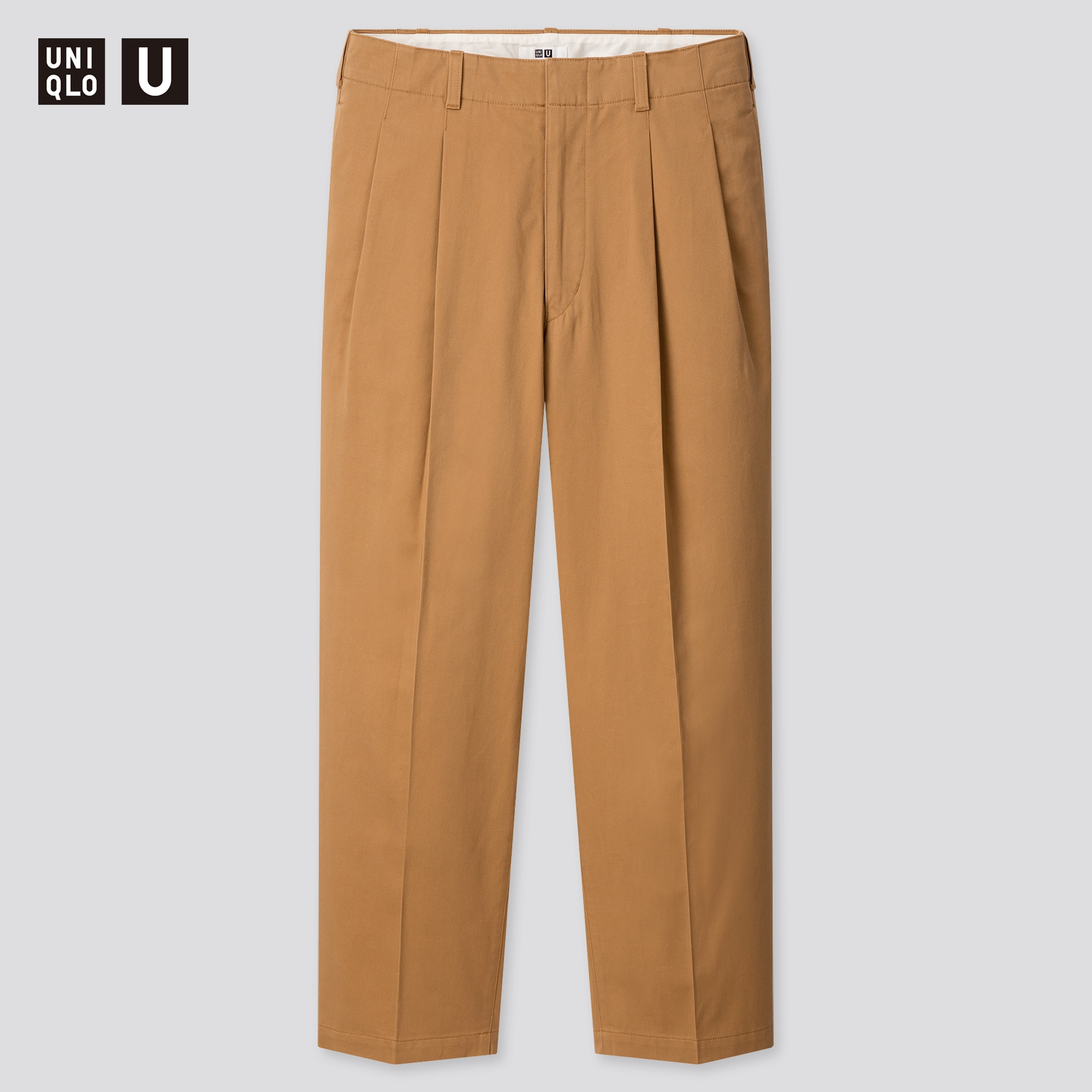 MEN U WIDE-FIT PLEATED TAPERED PANTS