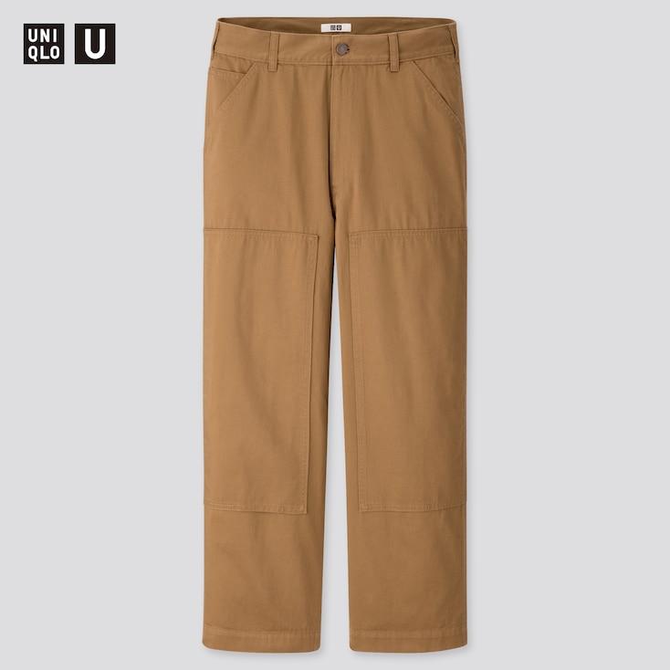 Men U Work Straight Pants, Brown, Large