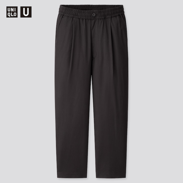 Men U Relaxed Wide-Fit Pants, Black, Large