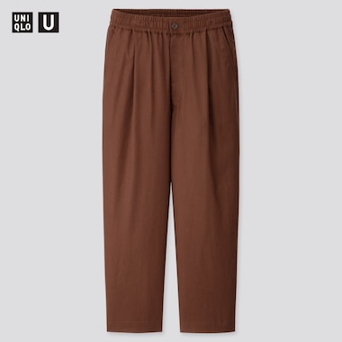 Men U Relaxed Wide-Fit Pants, Dark Brown, Medium