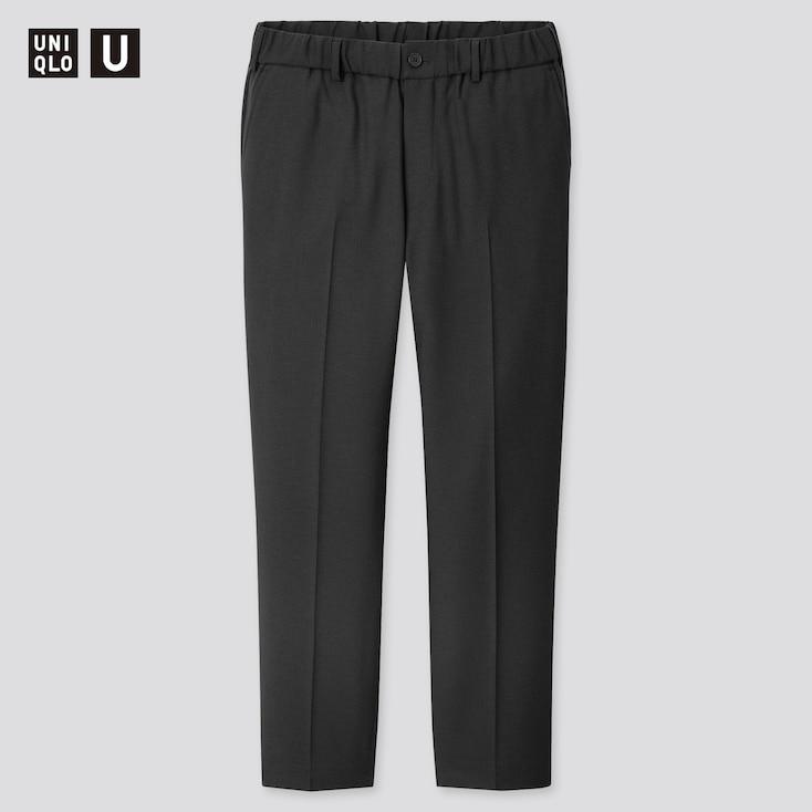 Men U Wide-Fit Tapered Pants, Black, Large