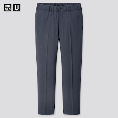 Men Uniqlo U Wide Fit Tapered Suit Trousers