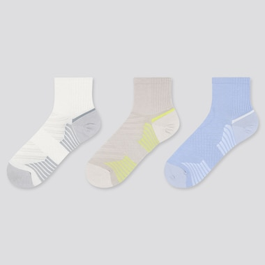 Women Sports Socks (3 Pairs), Off White, Medium