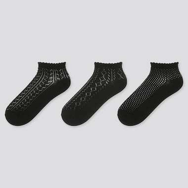 Women Lace Ankle Socks (Three Pairs)