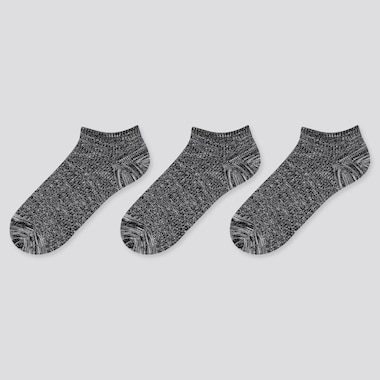 Women Slub Piqué Ankle Socks (Three Pairs)