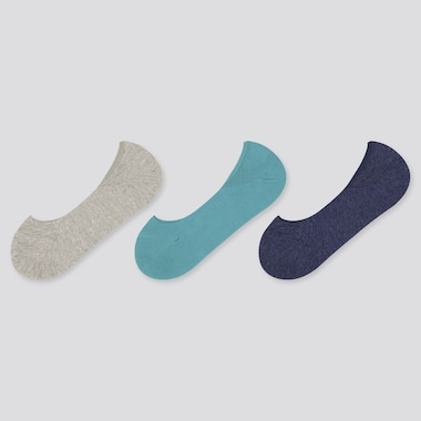 Women Low-Cut Footsies (3 Pairs), Gray, Medium