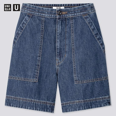 Women U Denim Relaxed Shorts, Blue, Medium