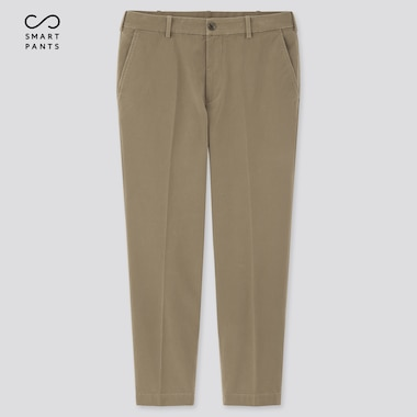 Men EZY Two Way Stretch Cotton Ankle Length Trousers