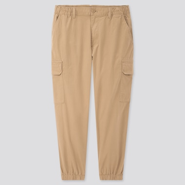 Men Ezy Wide-Fit Cargo Jogger Pants, Khaki, Medium