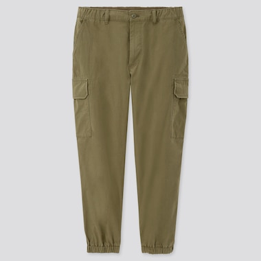 Men Ezy Wide-Fit Cargo Jogger Pants, Olive, Medium
