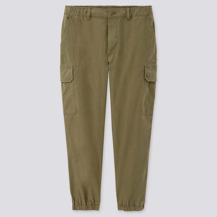 Men Ezy Wide-Fit Cargo Jogger Pants, Olive, Large