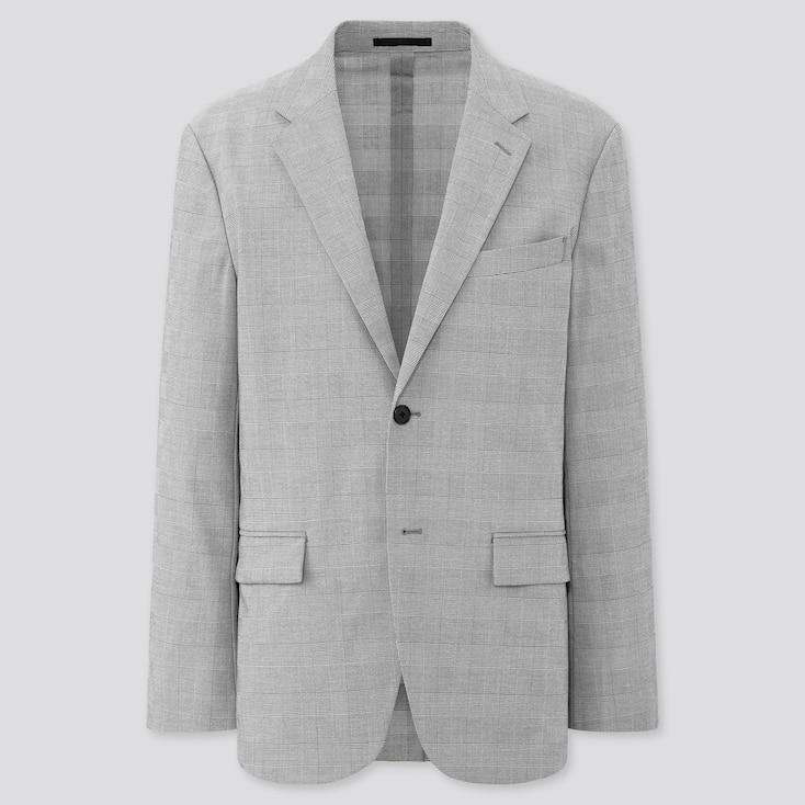 Men Printed Kando Jacket, Gray, Large