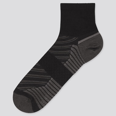 Men Sports Half Socks, Black, Medium