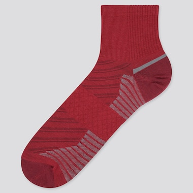 Men Sports Half Socks, Red, Medium