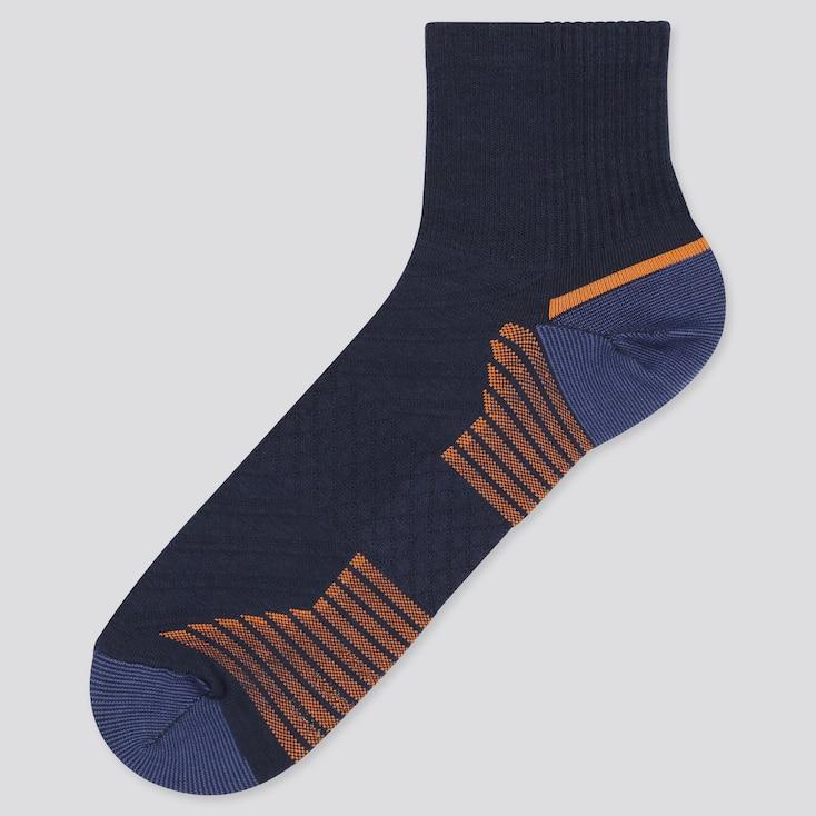 Men Sports Half Socks, Navy, Large