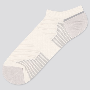 Men Sports Short Socks, White, Medium