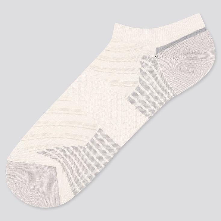 Men Sports Short Socks, White, Large