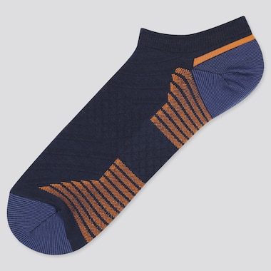 Men Sports Short Socks, Navy, Medium