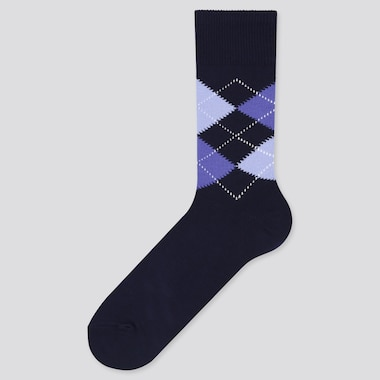 Men Argyle Print Socks