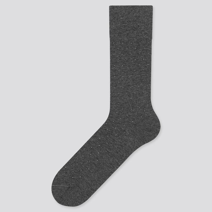 Men Supima® Cotton Dots Socks, Dark Gray, Large