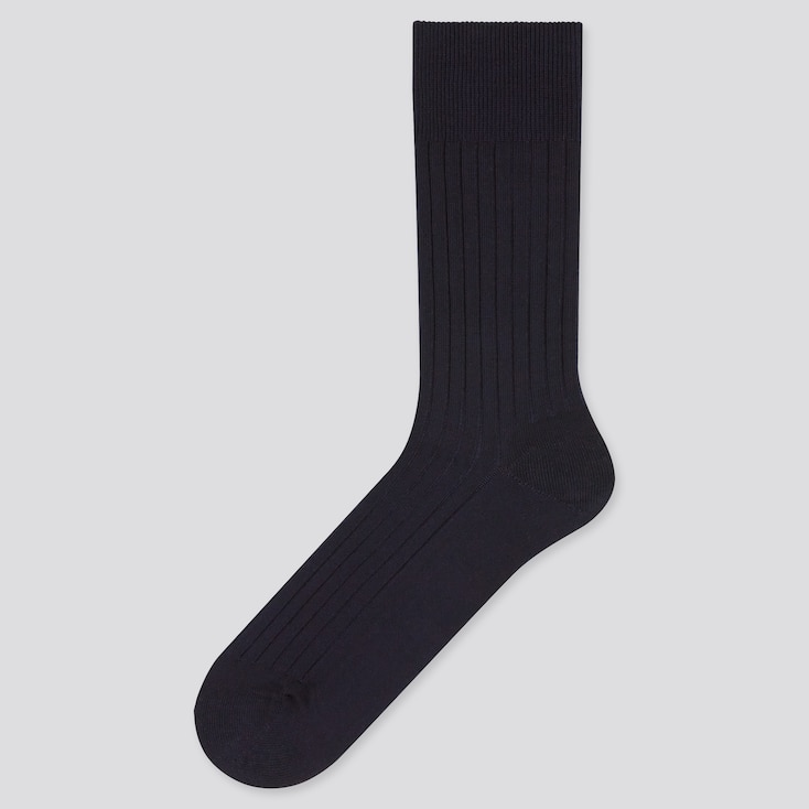 Men Supima® Cotton Wide-Ribbed Socks, 91, Large