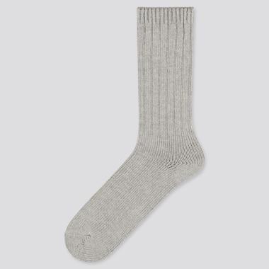 Men Low Gauge Socks, Gray, Medium