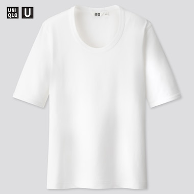 Women U Fitted Short-Sleeve T-Shirt, White, Medium