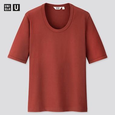 Women U Fitted Short-Sleeve T-Shirt, Wine, Medium