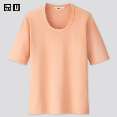 Women U Fitted Short-Sleeve T-Shirt, Light Orange, Medium
