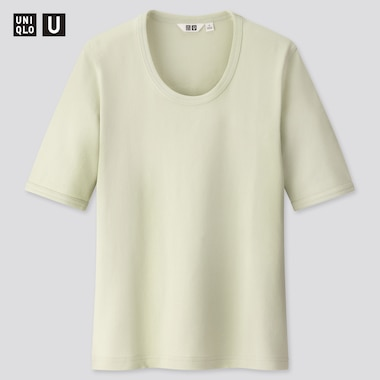 Women U Fitted Short-Sleeve T-Shirt, Light Green, Medium