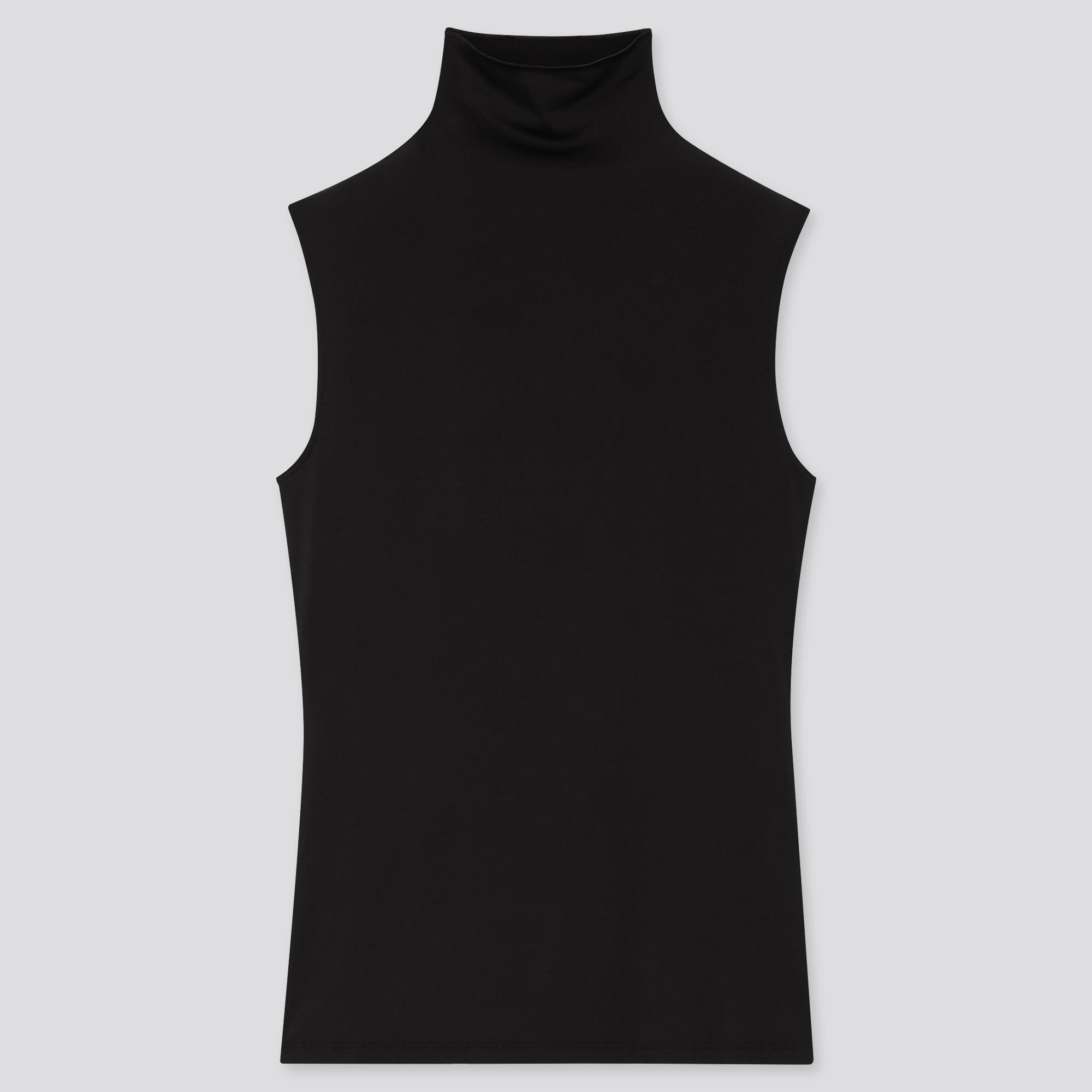 WOMEN AIRism UV PROTECTION HIGH-NECK SLEEVELESS T-SHIRT