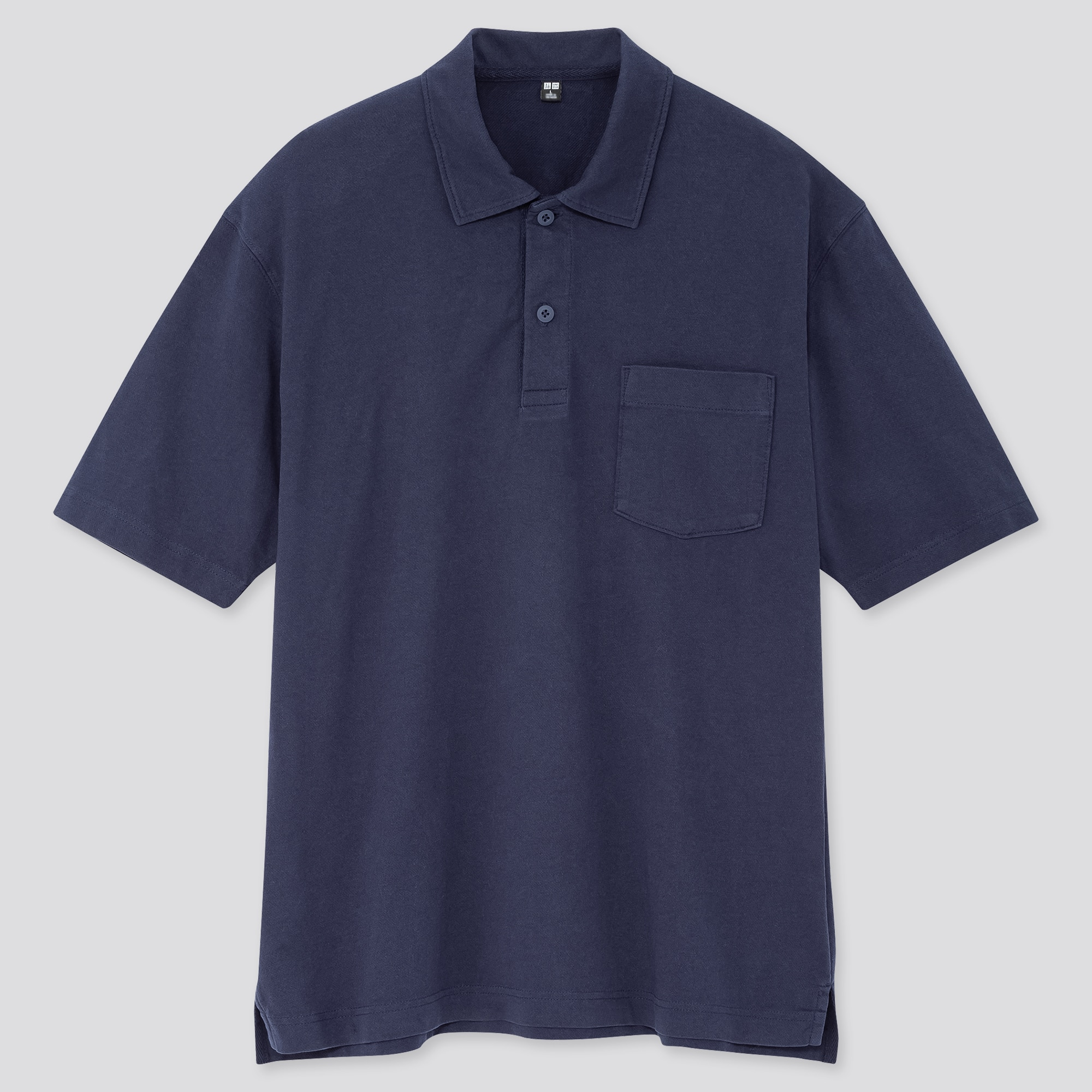 MEN COTTON JERSEY OVERSIZED POLO SHIRT (ONLINE EXCLUSIVE)