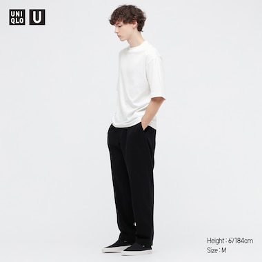 Men U Airism Cotton Crew Neck Oversized T-Shirt, White, Medium