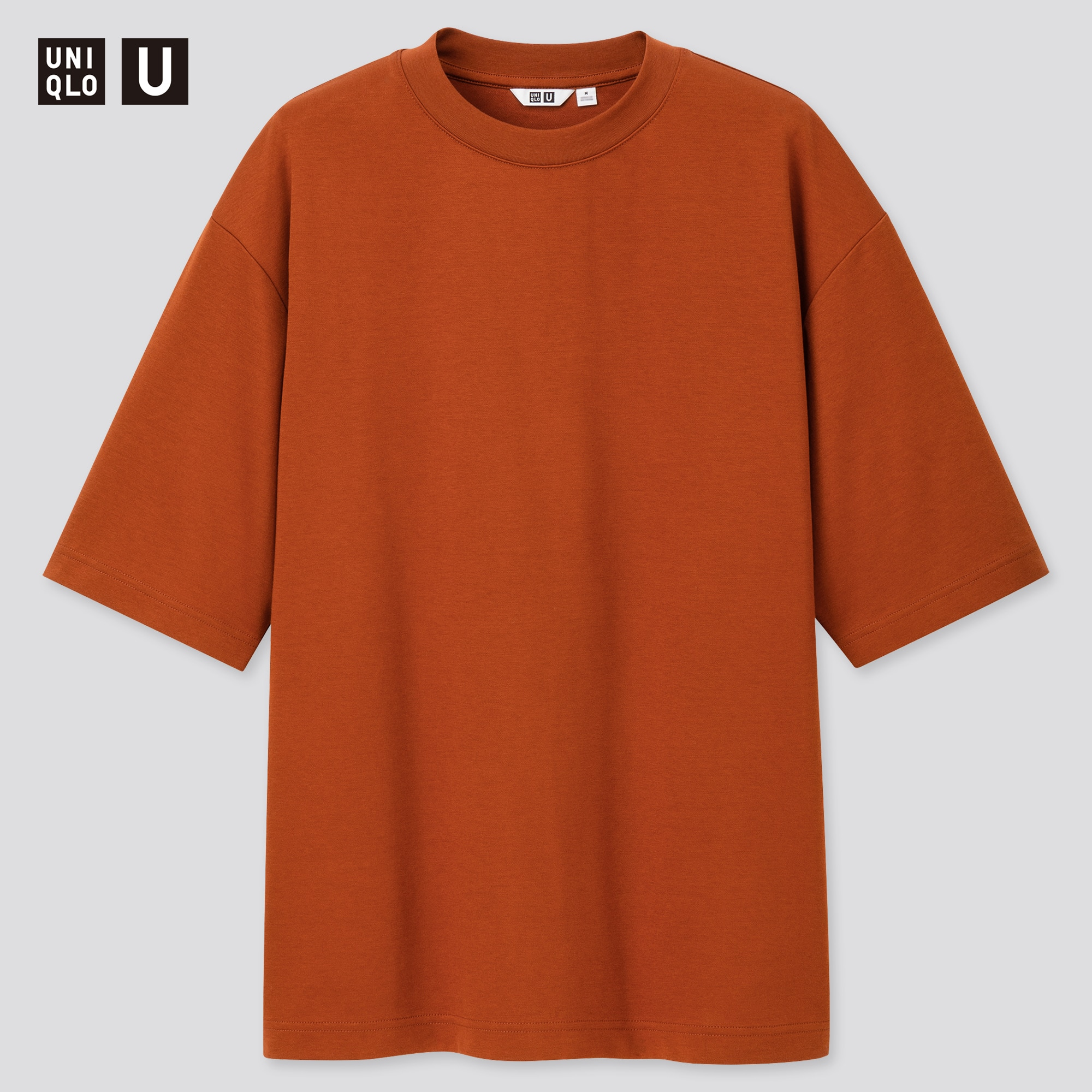 Men Uniqlo U AIRism Cotton Oversized Fit Crew Neck T Shirt