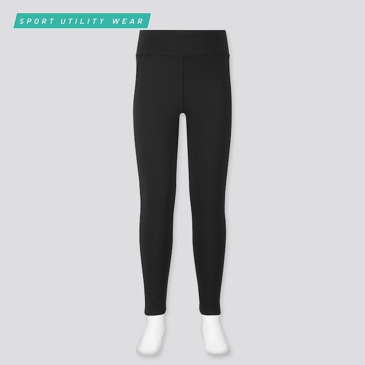 Girls Airism Uv Protection Soft Leggings, Black, Large
