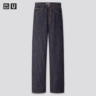Women Uniqlo U High Rise Boyfriend Jeans