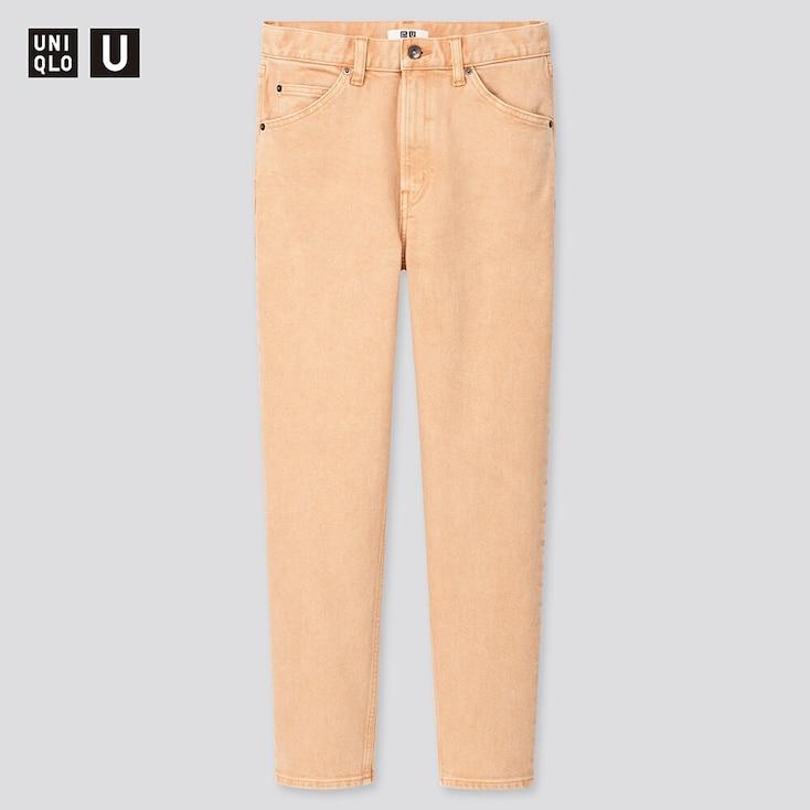 Women U Slim Tapered Ankle Jeans, Orange, Large