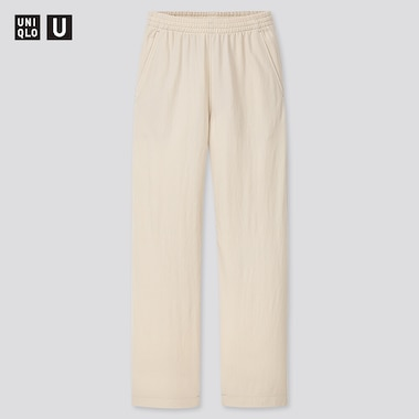 Women U Twill Jersey Relaxed Pants, Natural, Medium