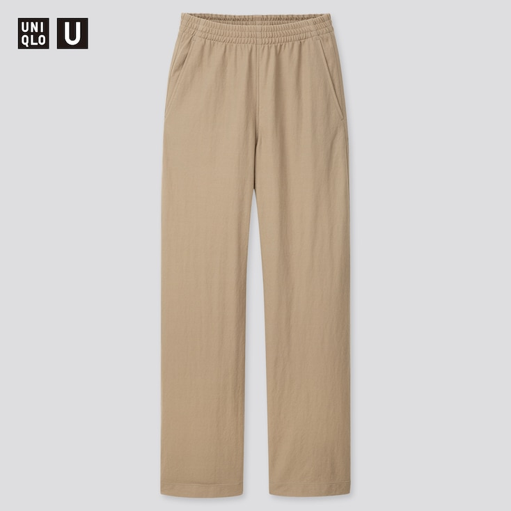 Women U Twill Jersey Relaxed Pants, Olive, Large