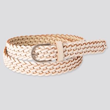 Women Mesh Belt, Off White, Medium